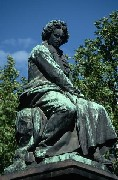 ウィーン市内のベートーベンの銅像