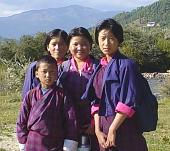 ブータンの学生達