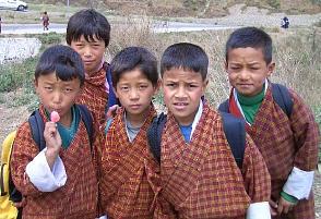 ブータンの子供たち