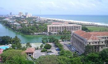 インド洋に面したコロンボの街