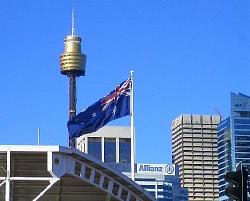 シドニーの青い空