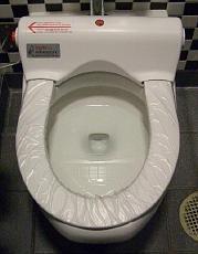 回転式便座カバー自動交換トイレ