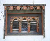ブータンの窓枠