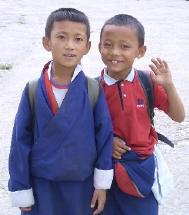 ブータンの男の子たち