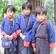 ブータンの女の子たち