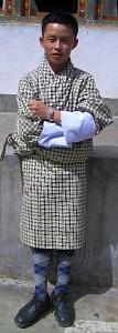 ブータンの民族衣装「ゴ」