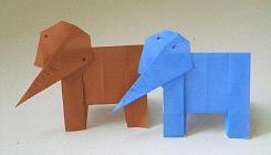 折り紙の象