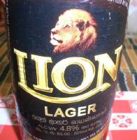 スリランカのビール「ライオン・ラガー」